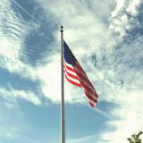 La bandiera vola per il frredom Fotografia Stock
