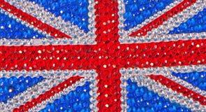 La bandierina britannica ha progettato con la scintilla! Immagini Stock Libere da Diritti