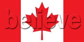La bandierina canadese crede Fotografia Stock Libera da Diritti