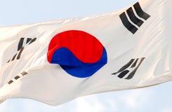 La bandierina coreana Fotografie Stock