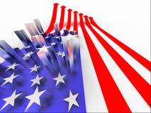 La bandierina degli S.U.A. Immagini Stock Libere da Diritti