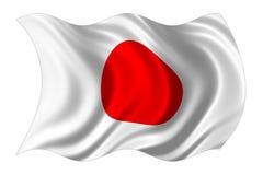 La bandierina del Giappone ha isolato Fotografia Stock