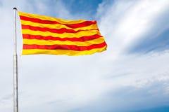 La bandierina della Catalogna fotografia stock