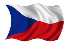 La bandierina della Repubblica ceca Fotografia Stock Libera da Diritti