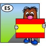 La bandierina della Spagna immagine stock