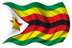 La bandierina dello Zimbabwe ha isolato Fotografia Stock Libera da Diritti