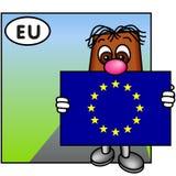 La bandierina di Unione Europea Fotografia Stock Libera da Diritti