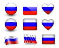 La bandierina russa Fotografia Stock Libera da Diritti
