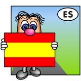 La bandierina spagnola fotografia stock libera da diritti