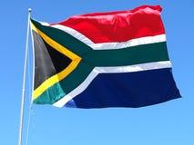La bandierina sudafricana Fotografia Stock