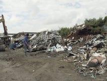 La Bangkok-Tailandia: Montagne dello spreco riciclabile Immagini Stock Libere da Diritti