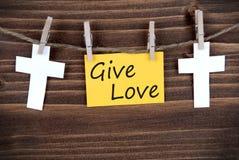 La bannière avec donnent l'amour Image stock