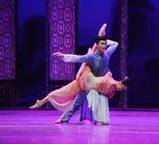 La bannière d'amour-Le de l'acte en second lieu des événements de drame-Shawan de danse du passé Photos stock