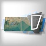 La bannière d'Infographic, origami a dénommé le vecteur illustration libre de droits