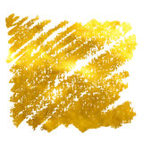 La bannière d'or tirée par la main Illustration de vecteur Photographie stock