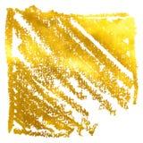 La bannière d'or tirée par la main Illustration de vecteur Photo libre de droits