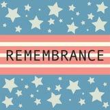 La bannière de Jour du Souvenir avec le souvenir se connectent le Photographie stock libre de droits