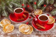 La bannière horizontale d'automne avec les feuilles jaunes, de rouge, les potirons, la tasse de café et le guelder s'est levée su Photo stock
