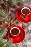 La bannière horizontale d'automne avec les feuilles jaunes, de rouge, les potirons, la tasse de café et le guelder s'est levée su Photographie stock