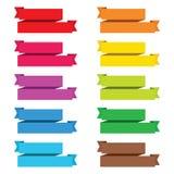 La bannière populaire de label de vintage de papier de ruban de paquet de couleur a isolé le VE Image stock