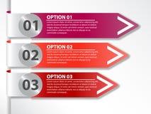 Bannière d'options Photographie stock libre de droits
