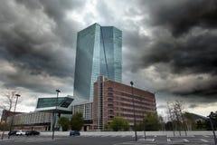 La Banque Centrale Européenne de BCE à Francfort Photo libre de droits