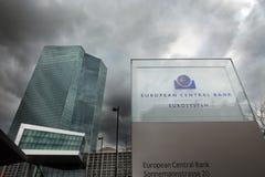 La Banque Centrale Européenne de BCE à Francfort Images stock