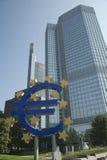 La Banque Centrale Européenne (la BCE) dans la ville de Francfort. Photographie stock libre de droits