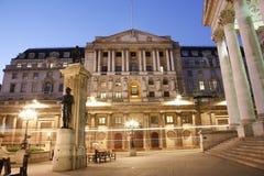 La Banque d'Angleterre Images libres de droits