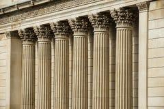 La Banque d'Angleterre des piliers de pierre Images stock