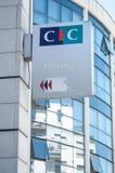 La banque de CIC se connectent la façade moderne de bâtiment Image stock