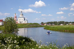 La banque de la rivière de Kamenka Image libre de droits