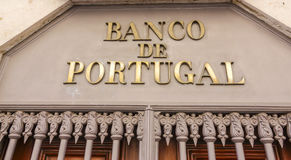 La banque du Portugal - le Banco De Portugal photo libre de droits