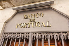 La banque du Portugal - le Banco De Portugal photo stock