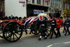 Funerale di Baroness Thatcher Immagini Stock Libere da Diritti