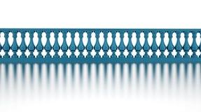 La barandilla azul rinde Imagen de archivo libre de regalías