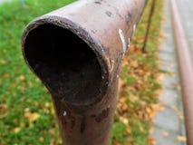 La barandilla marrón que va para el infinito Fotografía de archivo libre de regalías