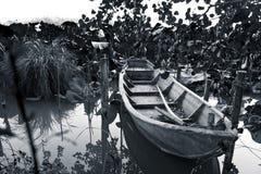 La barca abbandonata Fotografie Stock