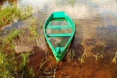 La barca affondata. Immagini Stock