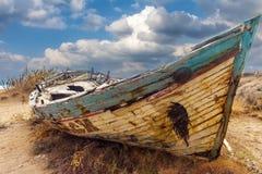 La barca con la sirena Fotografia Stock Libera da Diritti
