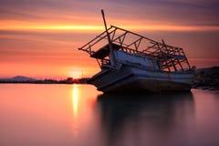 La barca di decomposizione Fotografie Stock Libere da Diritti