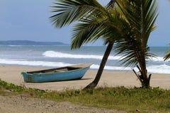 La barca di fila blu Fotografia Stock