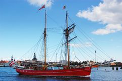 La barca di navigazione Fotografie Stock Libere da Diritti