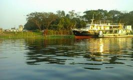 La barca dorata Immagini Stock