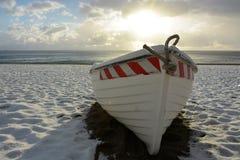 la barca e la neve Fotografie Stock Libere da Diritti