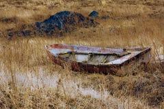 La barca gettata Fotografie Stock