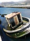 La barca incavata del pescatore Fotografia Stock