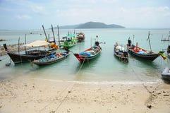 La barca locale all'isola di Samui Immagini Stock