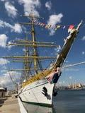 La barca Masted tres Mircea Fotografía de archivo