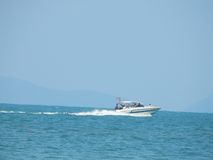 La barca nel mare in Asia Fotografia Stock Libera da Diritti